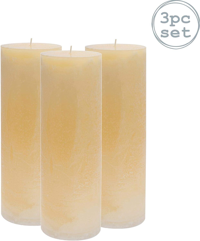 Dur/ée d/éclairage de 215 Heures x3 Nicola Spring Bougie Grosse parfum/ée /à la Vanille avec m/èche Unique