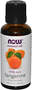 NOW Essential Oils, Tangerine Oil, Cheerful Aromatherapy Scent, Cold Pressed, 100% Pure, Vegan, Child Resistant Cap, 1-Ounce