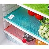 Kuber Industriestm Refrigerator Drawer Mat / Fridge Mat/ Multipurpose Mat Set Of 6 Pcs (13*19 Inches) (Multi) Code-Va326