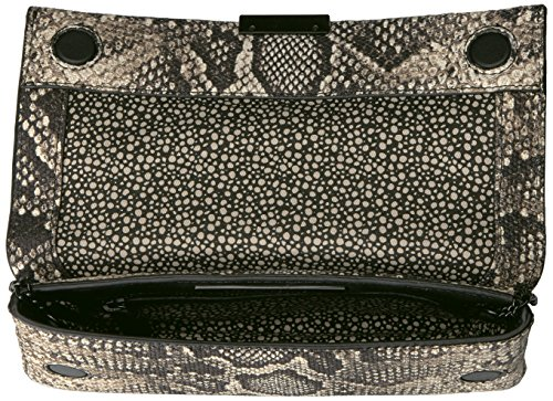 Clutch Leather LOEFFLER RANDALL Python Graphite Tab Embossed q4SPAISw