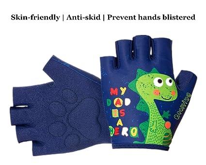 db9e9e80edb9 Boyiexin Outdoor Sports Half-Finger Gloves for Age3-10 Kids,Boys and Girls