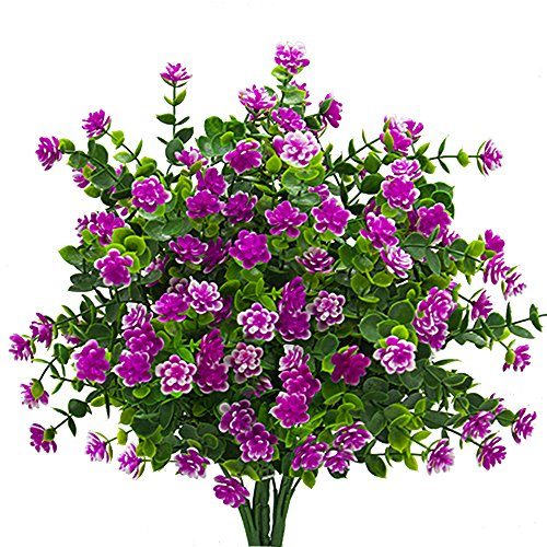 Artificial Flowers Fake Plant Outdoor Faux Floral Greenery Shrubs Plants Decor