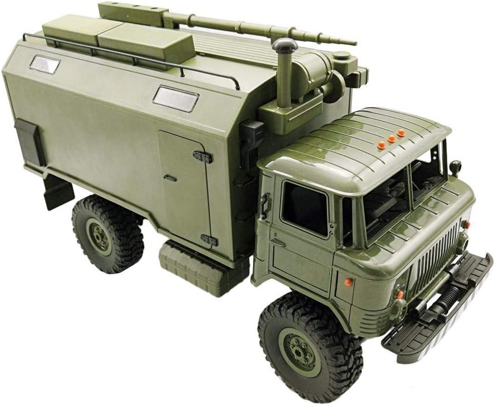 SH-Flying Camión Rock Crawler RTR Toy, WPL B24 ZH GASS 66 1/16 2.4G 4WD RC Coche Camión Militar Rock Comunicación Vehículo RC Coche Camión Rock Crawler RTR Juguete