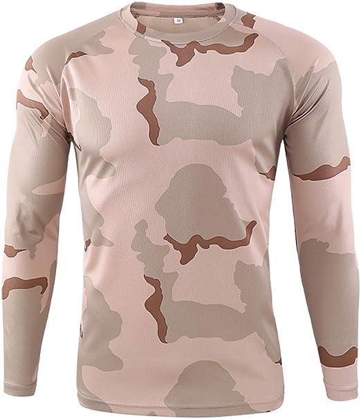 W&TT Camiseta táctica Militar para Hombre Camisa de Combate de Camuflaje de Secado rápido de Manga Larga Camisa Transpirable Slim Fit Airsoft Army,J,XXL: Amazon.es: Hogar