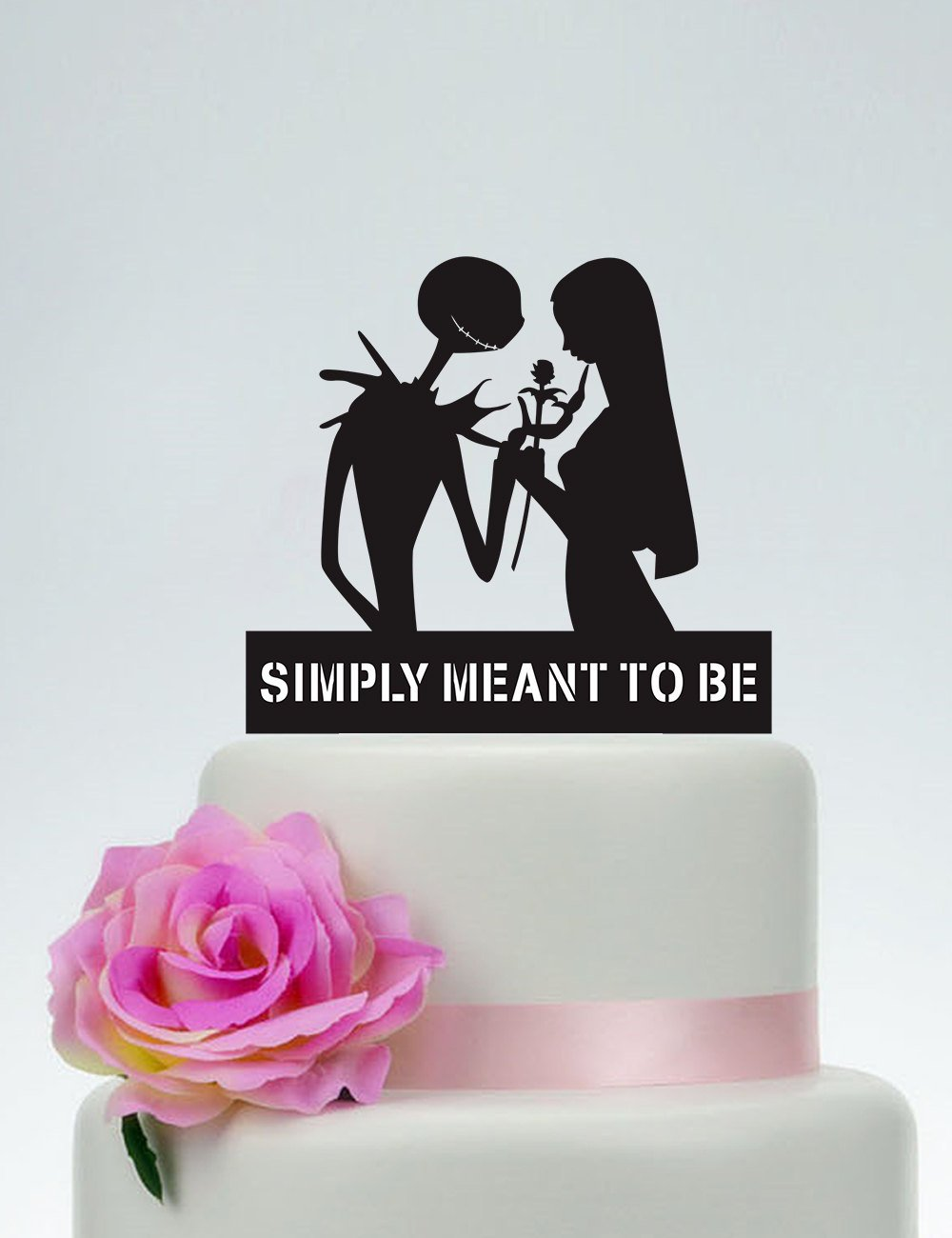 Wedding Cake Topper,Simply Meant To Be,Jack Skellington Cake Topper ...