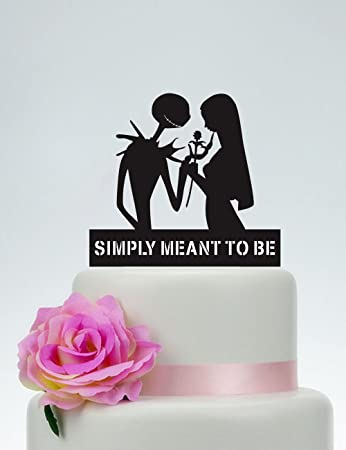 Wedding Cake TopperSimply Meant To BeJack Skellington Cake Topper