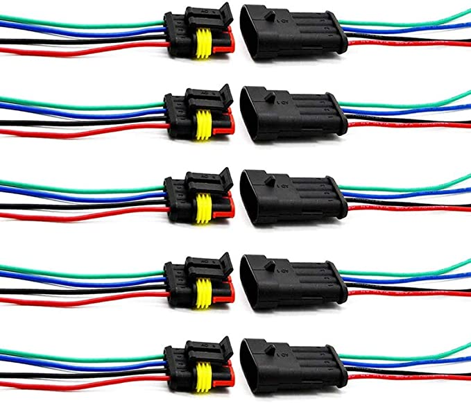ZoneLiStore 3 Pin Way 16 AWG Waterproof Wire Connectors Plug 1.5mm Series Terminal Connector Pack of 5
