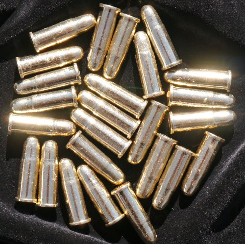Bullets Pistol - Denix 25 Replica Bullets - Colt Gun Revolver Dummy Ammo Cartridge Rounds - THEY ARE SMALLER THAN 45 CALIBER BULLETS