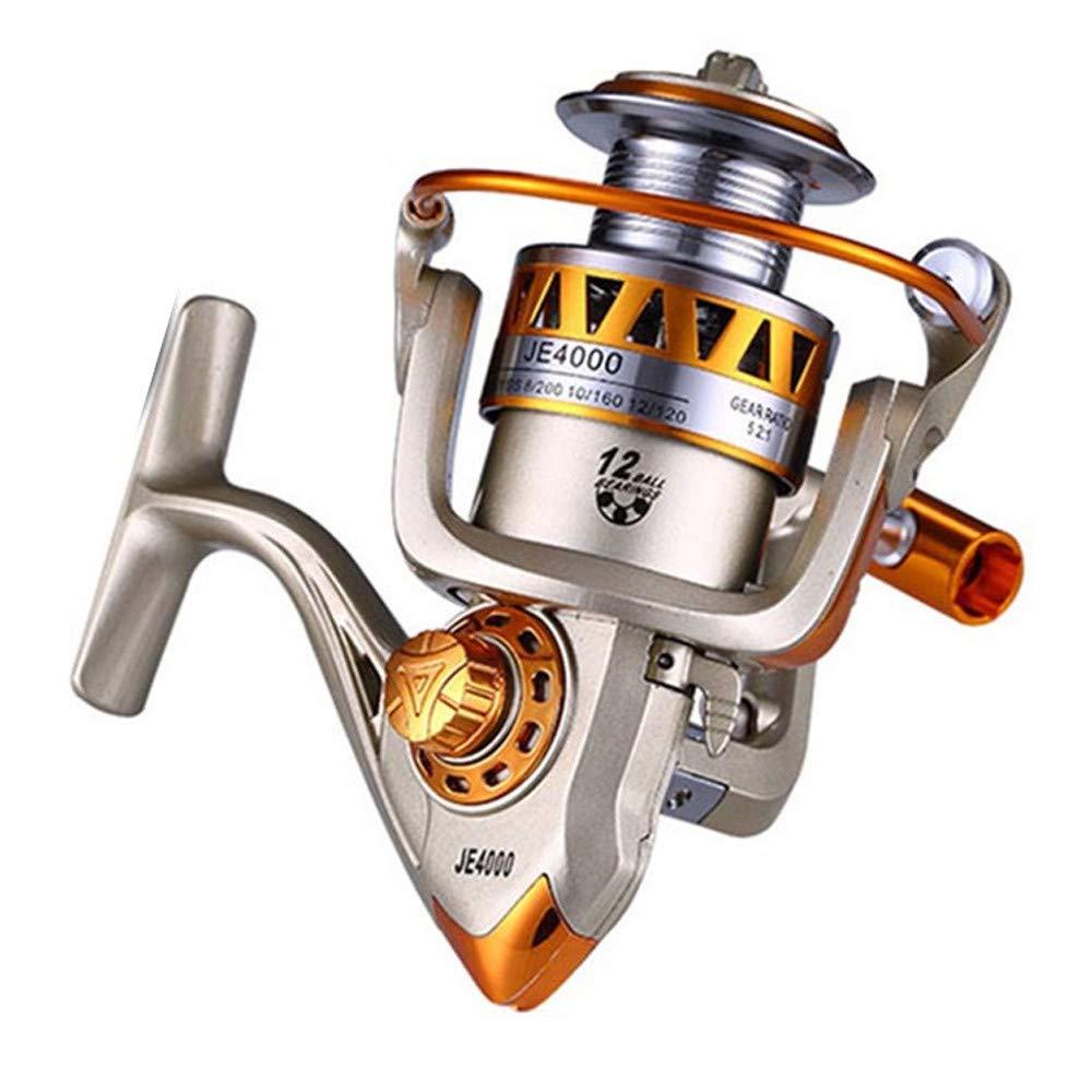 JJUYUUA EF1000-7000 12BB 5.2:1 メタルスピニングフィッシングリール フライホイール 淡水/海釣り用 スピニングリール 鯉釣り用 5000  B07H7HM1XP