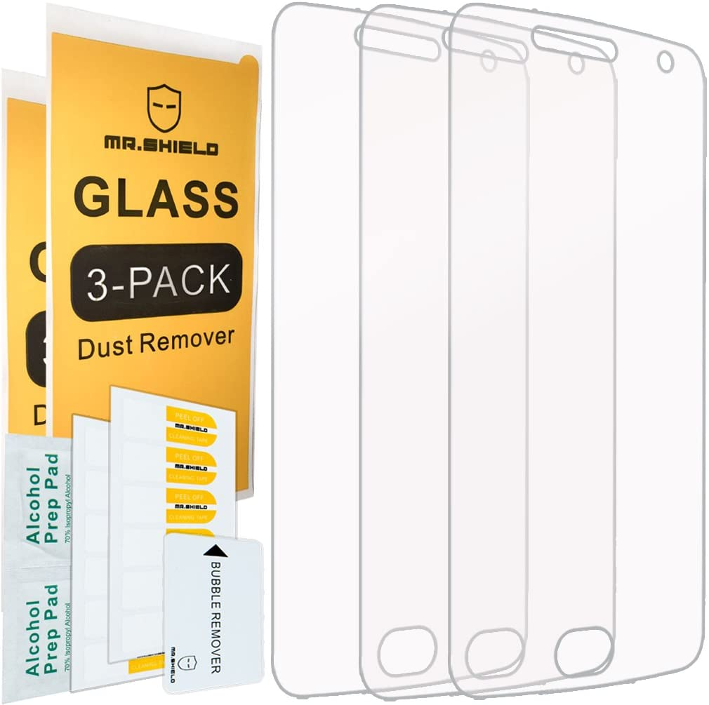 Mr.Shield [3-Pack] for Motorola Moto G5 Plus/Moto G Plus (5th Generation) [Tempered Glass] Screen Protector [0.3mm Ultra Thin 9H Hardness 2.5D Round Edge] with Lifetime Replacement