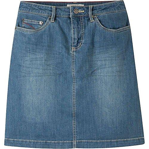 Mountain Khakis Women's Genevieve Jean Skirt Classic Fit, Light Wash, 12W