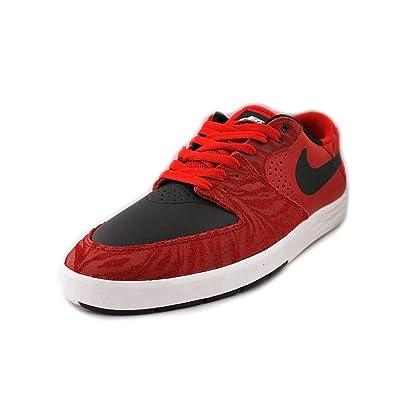 NIKE SB Paul Rodriquez 7 Low Premium Red/Black/White Skate Shoes-11.5