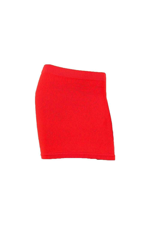Sofra Womens Seamless Stretch Skirt SKIRTSOLIDBRN