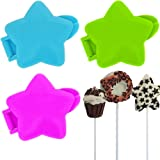 Promobo -Set Lot 3 Moules Pop Cakes Fantaisie Forme Etoile Lily Cook
