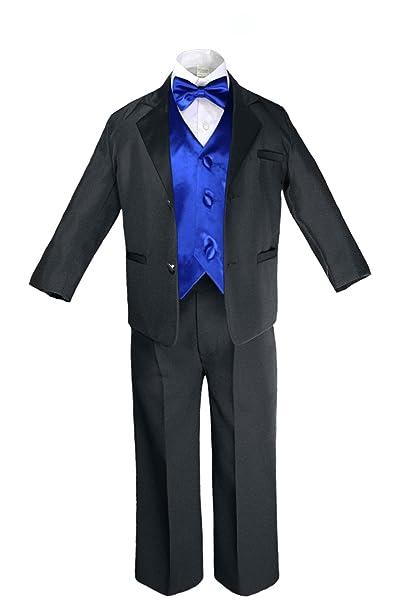 Amazon.com: unotux 7pc Formal Boy, color negro azul real ...