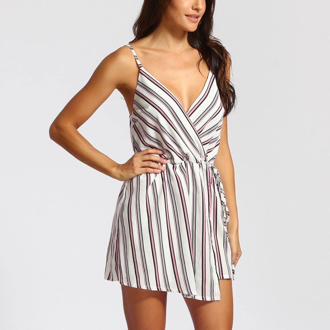 Womens Floral Printed Jumpsuit Playsuit Strapless Summer Beach Mini Sun Dresses