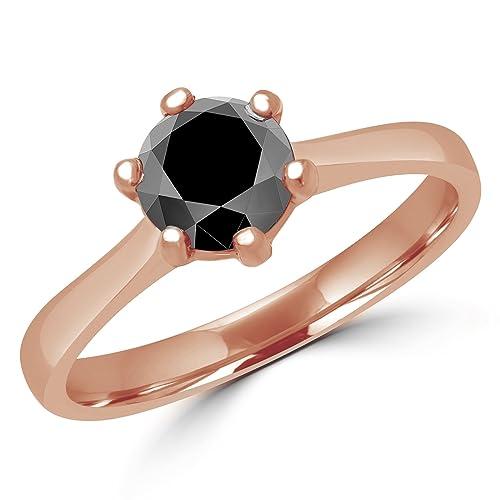 vendita limitata qualità incredibile scegli ufficiale 3/4 CT, taglio circolare, colore: nero diamante solitario ...