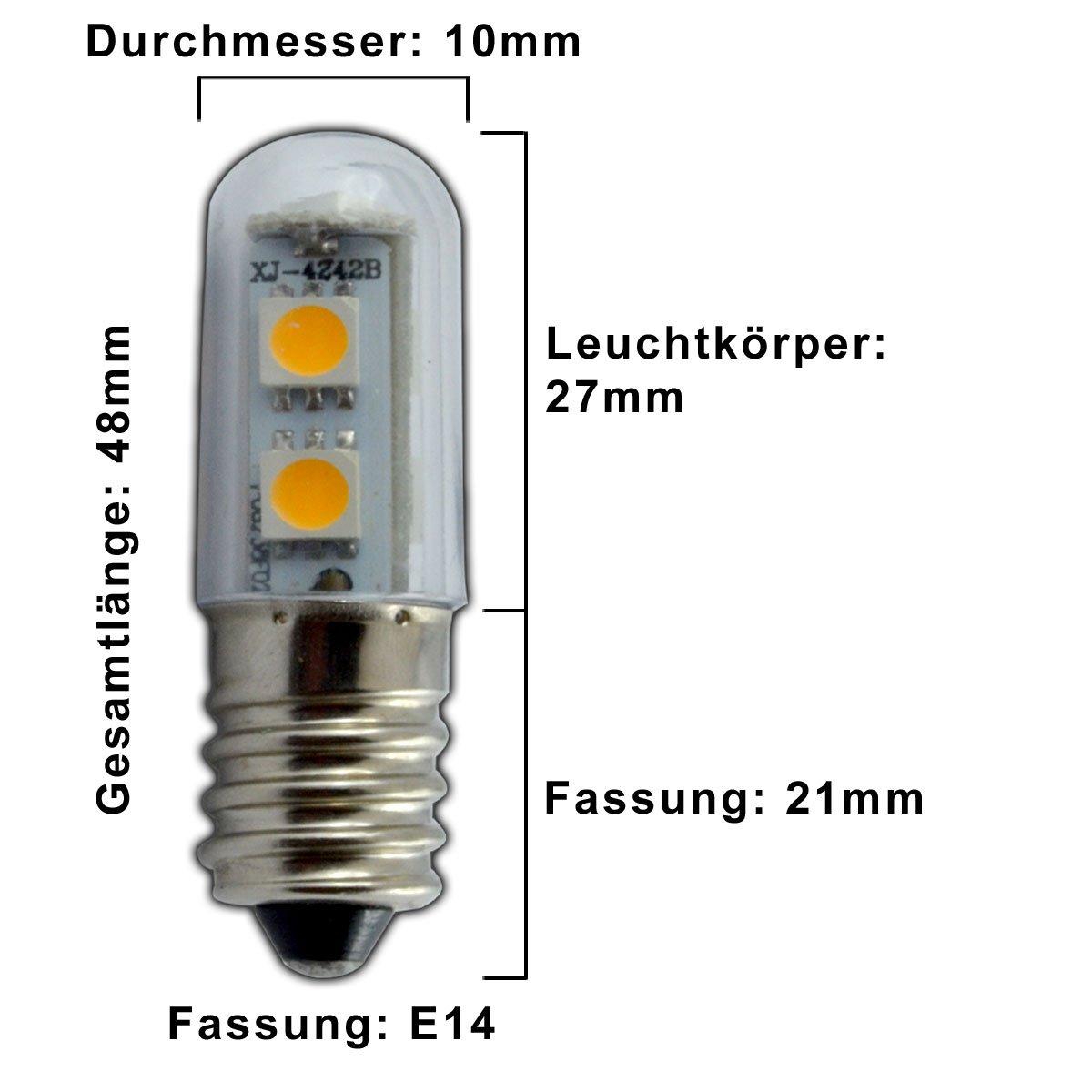 PB-Versand 3 bombillas led pequeñas, E14/SES, 1 W, blanco frío, para frigorífico o máquina de coser: Amazon.es: Iluminación