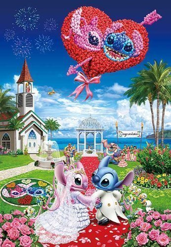 Disney 1000 Piece Seaside Wedding D-1000-381 (japan import)