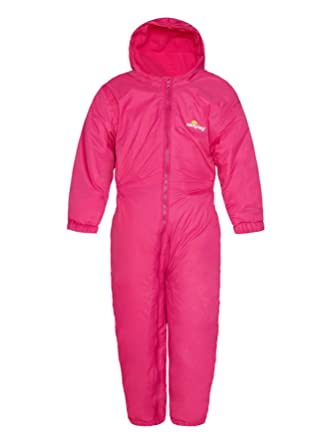 5b5c2303d98c Wetplay Kids Padded All-in-One Waterproof Suit Snowsuit Childs Childrens  Boys Girls