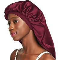 Awefeel Double-Layer Satin Sleep Cap for Long Hair, Braids, Dreadlocks, Curly Hair