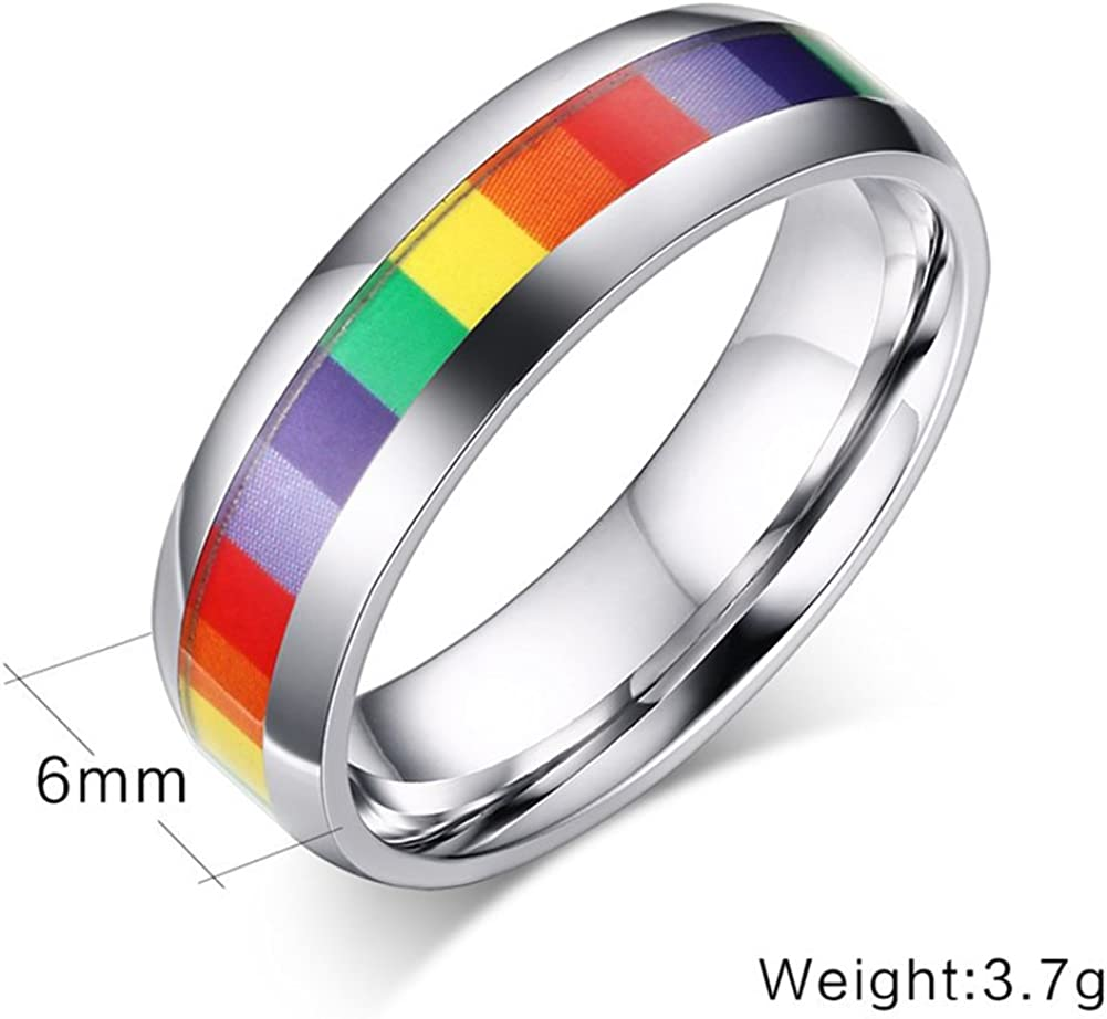 LALA JEW Stainless Steel Classic Rings Titanium Rings for Male Wedding Bands