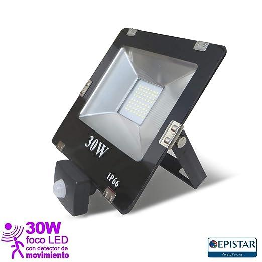 EEKLUX Foco Proyector LED 30W con Sensor de Movimiento, 30 W ...
