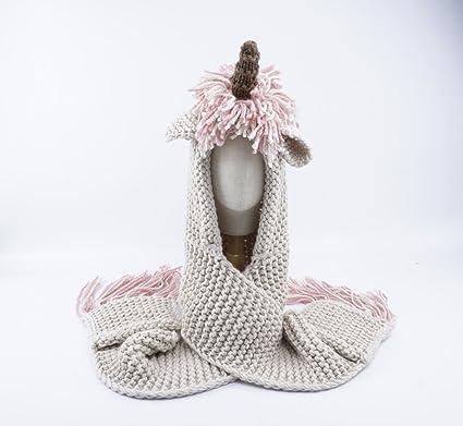 ACVIP Enfant Fille Chapeau Tricot Bonnet Echarpe Gant Ensemble (Rose)   Amazon.fr  Vêtements et accessoires 193725539e7