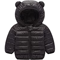 Elonglin Baby Kids Cotton Padded Jacket Winter Hooded Coat Puffer Jacket Lightweight Top Outfits