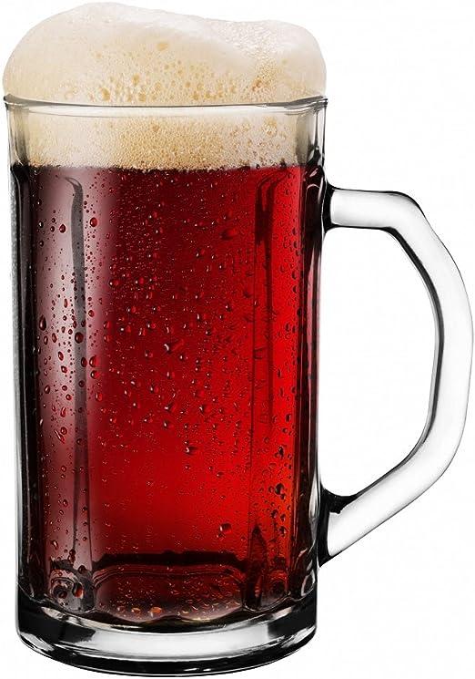 SABLES & REFLETS 4 Vasos de Cerveza Choper/Jarra de Cerveza/Tradicional 500 ML: Amazon.es: Hogar