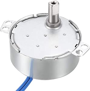 uxcell Electric Synchronous Synchron Motor Turntable Motor 100-127 VAC 50-60Hz CCW/CW 4W 5-6RPM