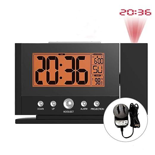 LMSHM Despertador Proyección Digital Despertador Constante Luz De ...