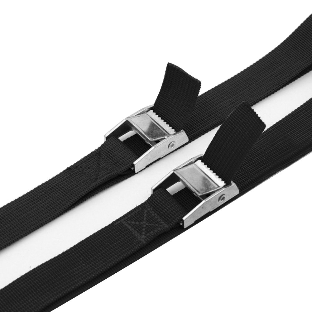Carriers and Other Roof Mounted Luggage Cargo Canoes 5M x 2.5cm Pack of 2 Lashing Straps with Buckle Good for Roof-top Tie Down with Kayaks