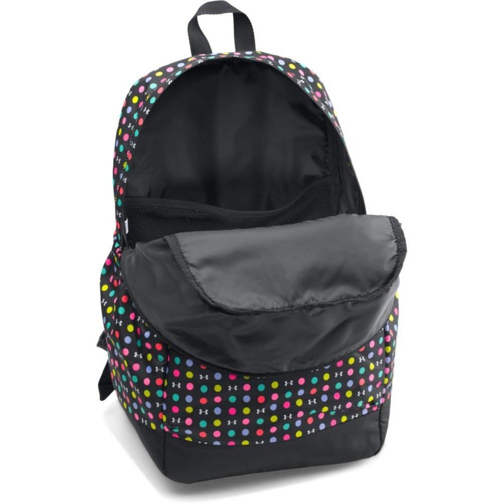 9e3cfb21da Amazon.com: Under Armour Girls' Favorite Backpack, Black (003)/Harmony Red,  One Size: Clothing