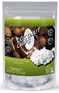 NATURSEED Chips de coco ecológico Sin azúcares añadidos, 100% natural, sin aditivos ni