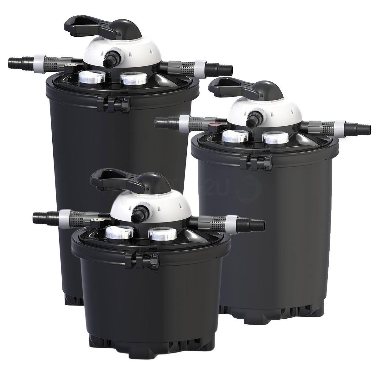 Velda 126310 Druckfilter für Teiche bis 10.000 Liter inkl. 9 Watt UV-C, Clear Control 25 + UV-C, 126310