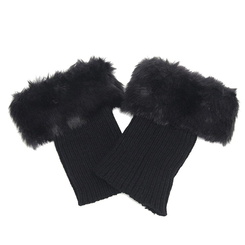 TININNA Nuovo paragrafo Inverno caldo Lana a maglia pelliccia Manicotto di protezione gambe Scaldamuscoli beige