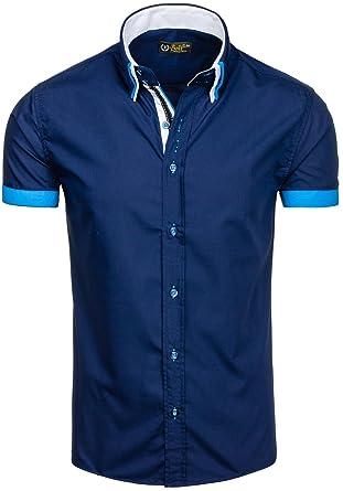 BOLF Herren Freizeithemd Kurzarmhemd Shirt Klassisch Slim Fit Polo 2B2  Casual  Amazon.de  Bekleidung 94e26724ad