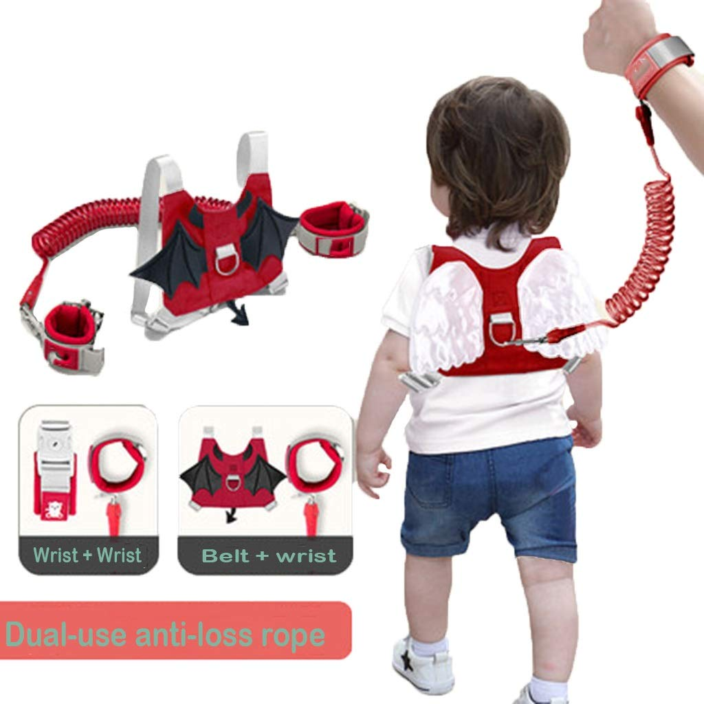 Anti Lost Safety Wrist Link Belt, 2 in 1 Kids Walking Safety Harness, Wrist Leash, Strap and Hand Belt, Wrist Link, Harness and Reins