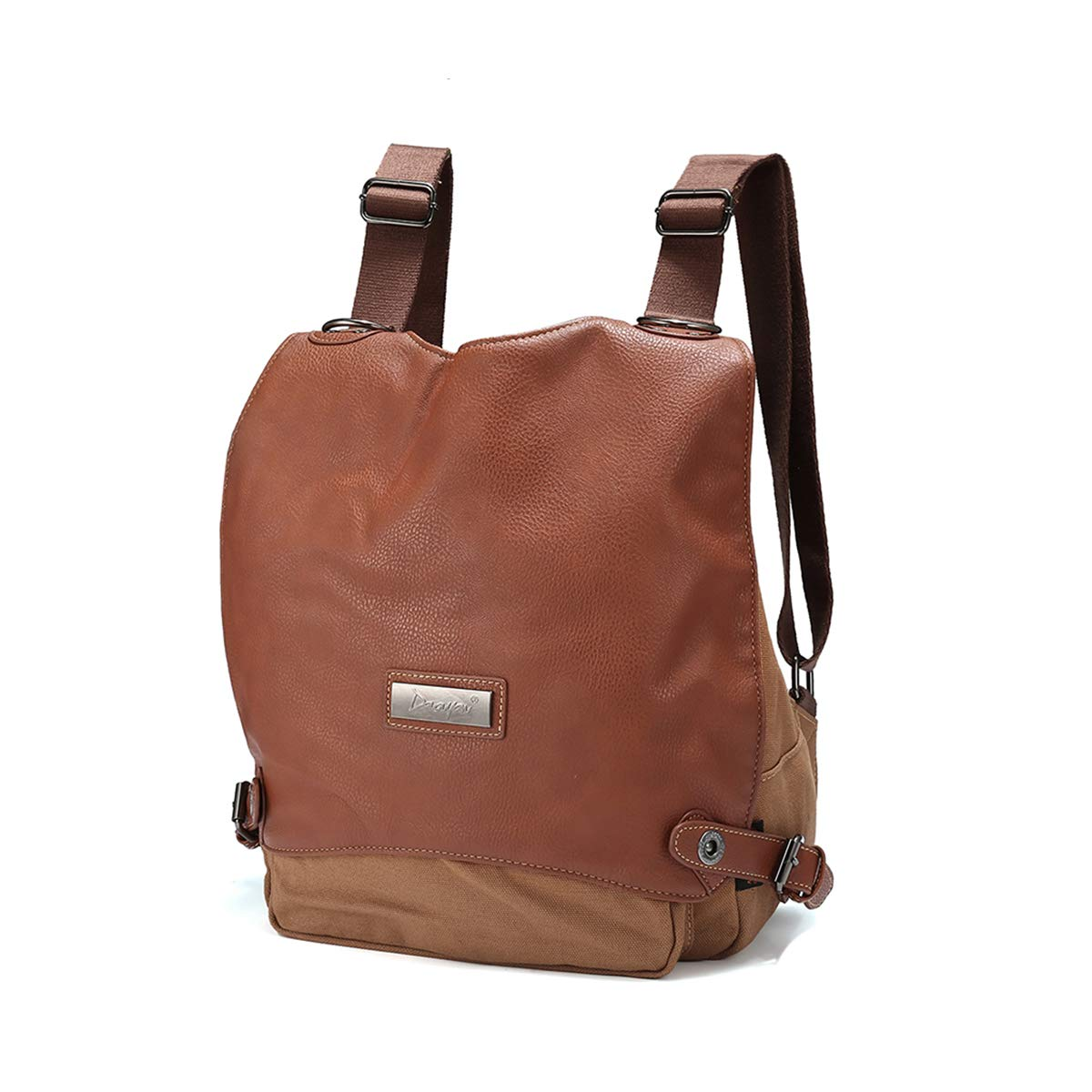 Fashion Anti-Theft Backpack, JOSEKO Women Canvas Casual Dual-Use Shoulder Messenger Bag Rucksack Shoulder Bag for Ladies Brown