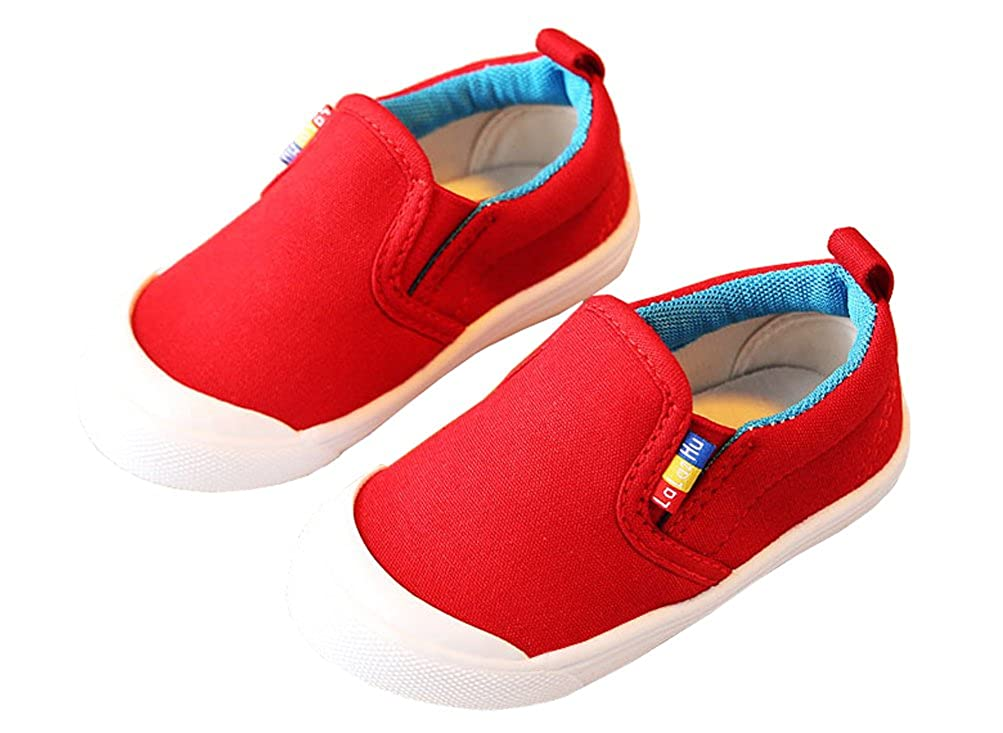 iDuoDuo Baby//Infant//Toddler Boys Girls Candy Color Slip On Cotton Loafers Canvas Shoes