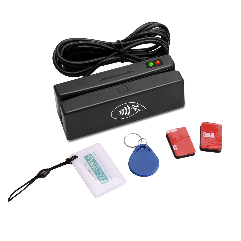 MSR100-RF 2 in 1 USB All 3 Track Magnetic Stripe Card Reader + RFID Card Reader/Writer - with Free SDK Demo