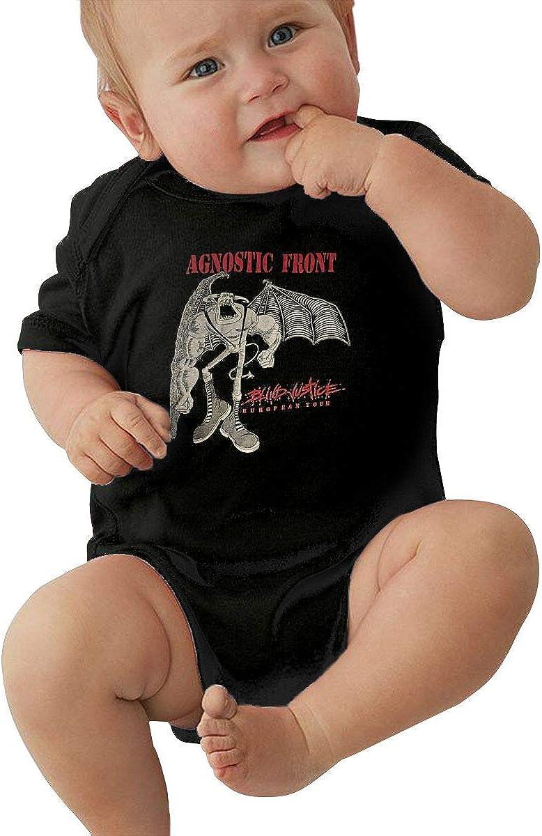 WilliamWButler Agnostic Front Baby Bodysuit Romper Unisex Baby Short Sleeve Shirt Cotton Onesies
