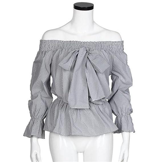 2016 AWF de la blusa del hombro Forever 21 camisas de manga larga para las mujeres (L): Amazon.es: Ropa y accesorios