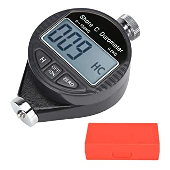 Tire Flooring Digital 100HD C Durometer LCD Display Shore Rubber Hardness Tester Meter for Rubber Bowling ball Thermal Plastic Plastic