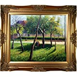 overstockArt Pissarro An Enclosure in Eragny with Victorian Gold Frame Oil Painting, Gold Finish