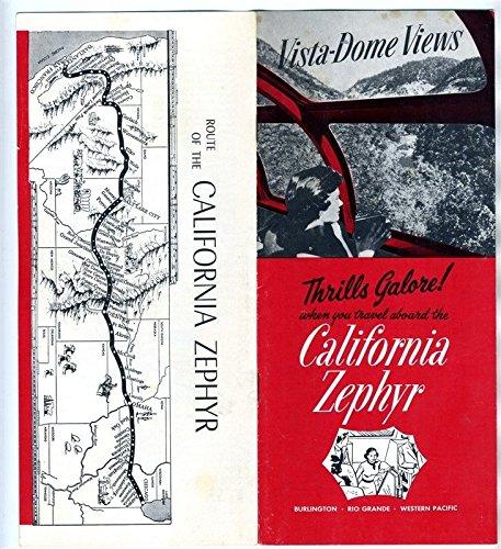 California Zephyr Vista Domes Views 1968 Burlington Rio Grande Western -