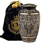 6 urns for human ashes - Majestic Radiance - Connolly Memorials 100% Brass Cremation Urns for Human Ashes Large, Small and Keepsake for Burial, Funeral, Niche, Columbarium or Home Display