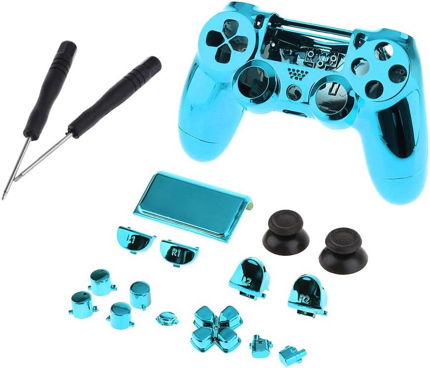 P Prettyia Juego de Reemplazo de Carcasa Completa para Sony PS4 ...