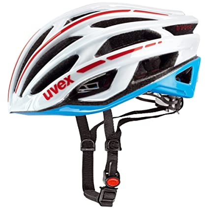 2015 Uvex Unisex Race 5 Helmet White and Cyan Small 52-56cm